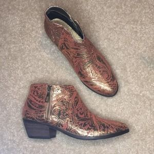 Anthropologie Very Volitile Kalessi Coral Boots